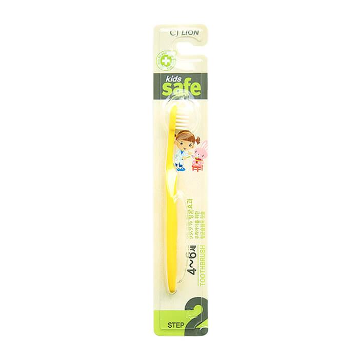 Купить Детская зубная щетка CJ Lion Kids Safe Toothbrush - Step 2, Зубная щётка с антибактериальной щетиной для детей от 4 до 6 лет, Южная Корея