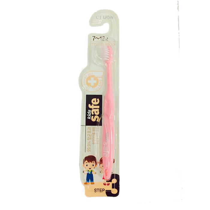 Купить Детская зубная щетка CJ Lion Kids Safe Toothbrush - Step 3, Зубная щётка с антибактериальной щетиной для детей от 7 до 12 лет, Южная Корея