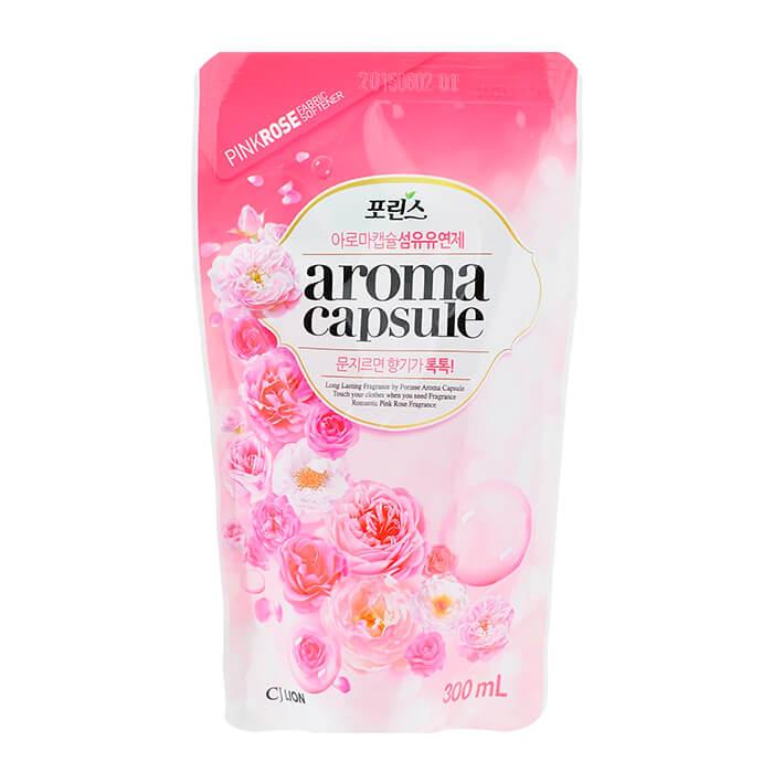 Кондиционер для белья CJ Lion Porinse Aroma Capsule - Rose (mini), Смягчающий кондиционер для белья с нежным ароматом цветущей розы, Южная Корея  - Купить