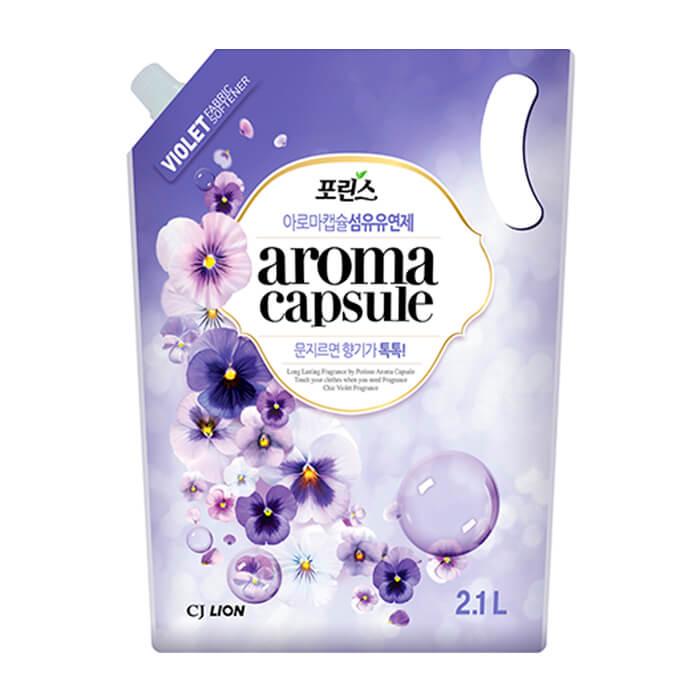 Купить Кондиционер для белья CJ Lion Porinse Aroma Capsule - Violet, Смягчающий кондиционер для белья с нежным ароматом цветущей фиалки, Южная Корея