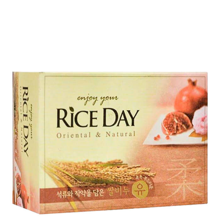 Купить Мыло туалетное CJ Lion Rice Day Oriental & Natural Pomegranate Soap, Туалетное мыло для рук и тела с экстрактом граната и пиона, Южная Корея