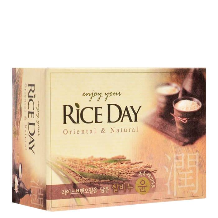 Купить Мыло туалетное CJ Lion Rice Day Oriental & Natural Rice Bran Soap, Туалетное мыло для рук и тела с маслаом рисовых отрубей, Южная Корея