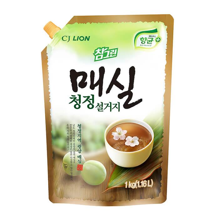 Купить Средство для мытья посуды CJ Lion Japanese Apricot Clean Dish Wash (Refill), Средство с экстрактом абрикоса для мытья посуды, овощей и фруктов, Южная Корея