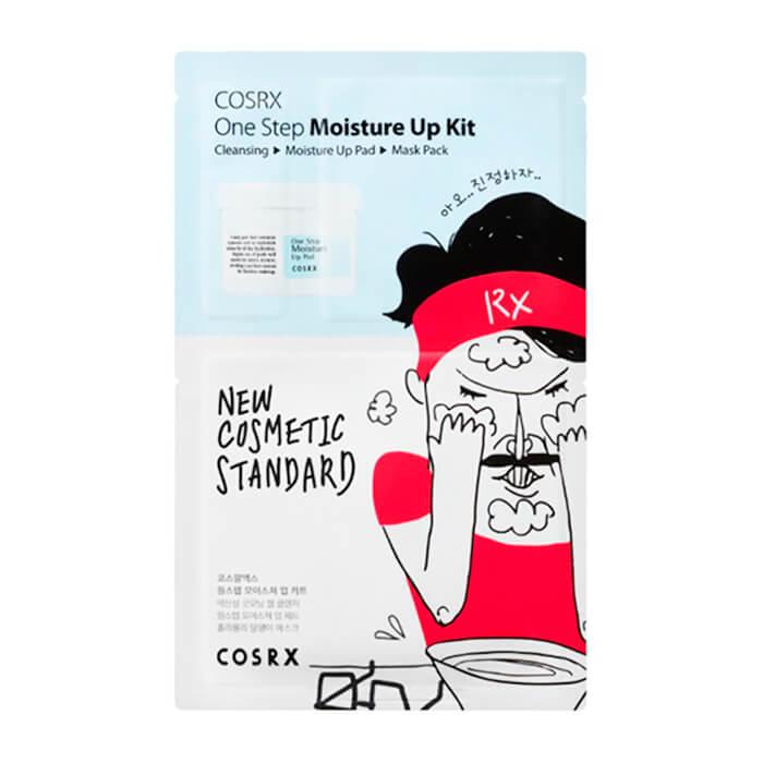 Купить Набор для лица CosRX One Step Moisture Up Kit, Мини комплекс для очищения и увлажнения кожи лица, Южная Корея