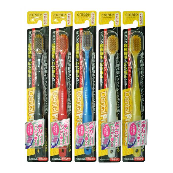 Купить Зубная щётка Create Dentfine Tapered Toothbrush - Soft, Зубная щетка низкой жесткости с супертонкими щетинками, Япония