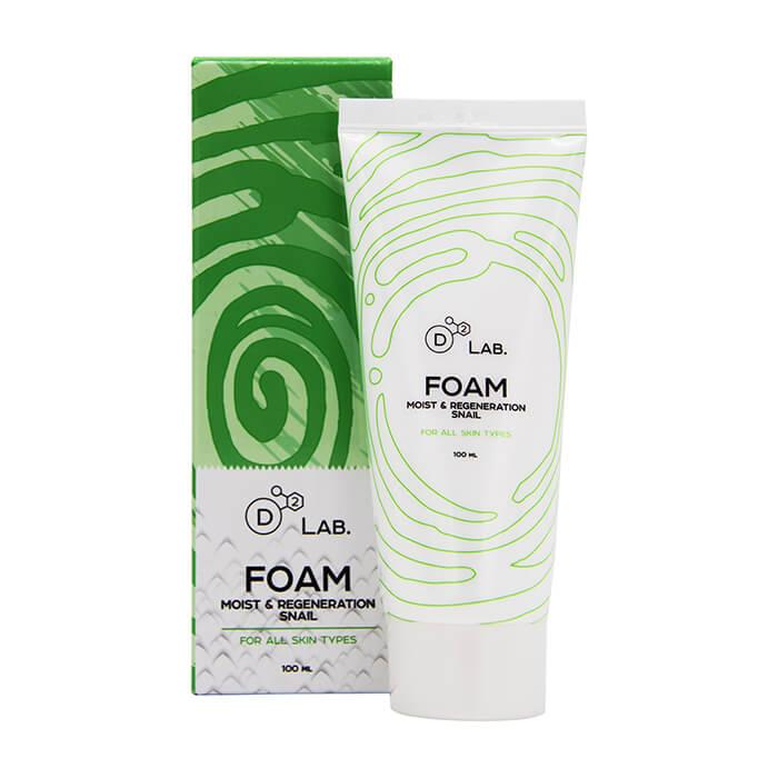Купить Пенка для умывания D2 Lab Foam Moist & Regeneration Snail, Питательная регенерирующая пенка для умывания с муцином улитки, Южная Корея