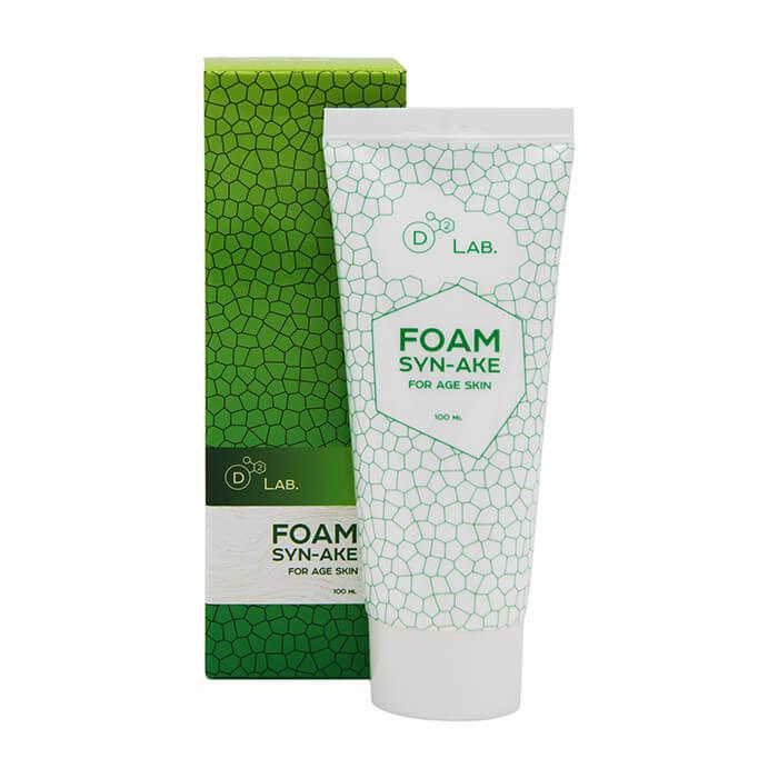 Купить Пенка для умывания D2 Lab Foam Syn-Ake, Антивозрастная разглаживающая пенка для умывания с пептидом змеиного яда, Южная Корея