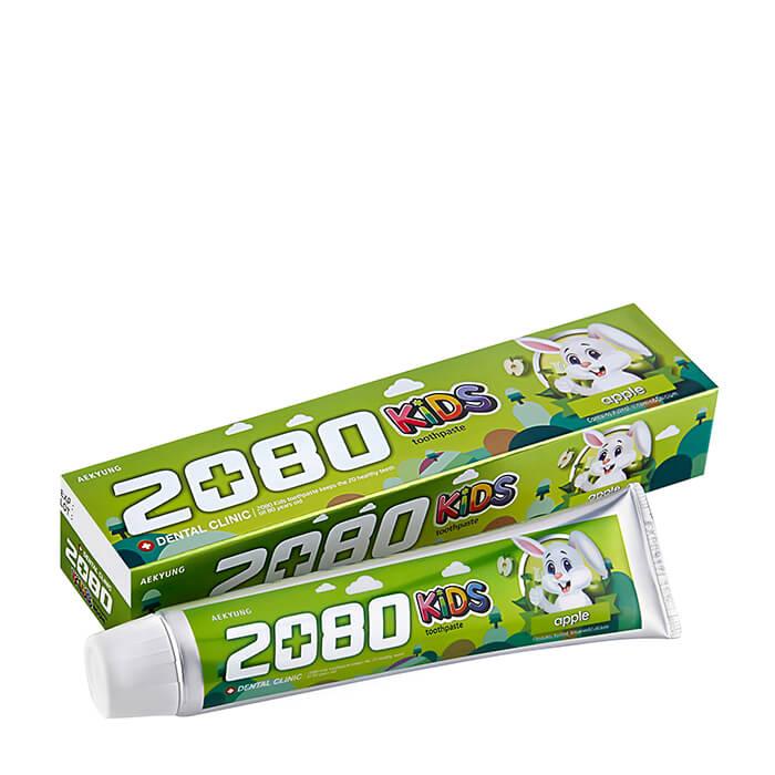 Детская зубная паста Dental Clinic 2080 Kids Toothpaste Apple Детская зубная паста для укрепления эмали с яблочным вкусом фото