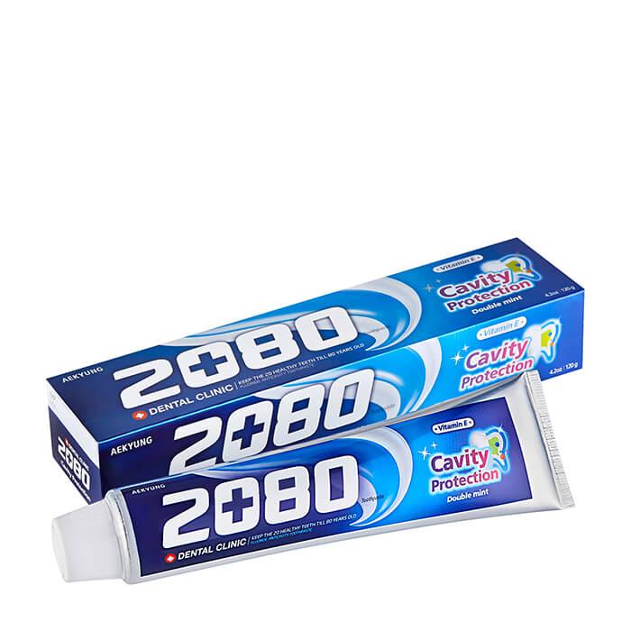 Купить Зубная паста Dental Clinic 2080 Cavity Protection Double Mint Toothpaste, Мягкая зубная паста для всей семьи с натуральной мятой, Южная Корея