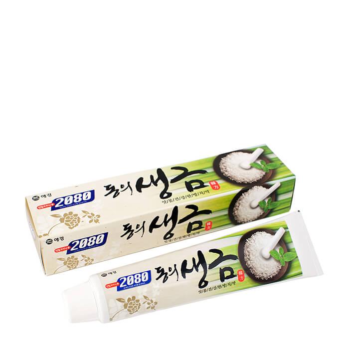 Купить Зубная паста Dental Clinic 2080 Dongui Saenggeum Toothpaste, Гелевая зубная паста с экстрактом лечебных трав и биосолями, Южная Корея
