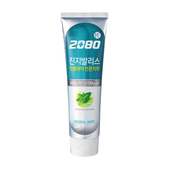 Купить Зубная паста Dental Clinic 2080 Herbal Mint Toothpaste, Антибактериальная зубная паста со вкусом мяты и экстрактами лечебных трав, Южная Корея