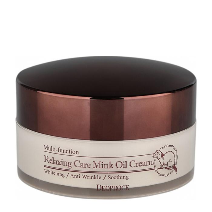 Купить Крем для лица Deoproce Relaxing Care Mink Oil Cream, Расслабляющий крем для лица на основе норкового жира, Южная Корея