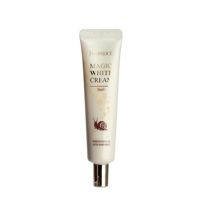 Купить Крем для лица Deoproce Magic White Cream Snail, Восстанавливающий осветляющий крем для кожи лица с муцином улитки, Южная Корея