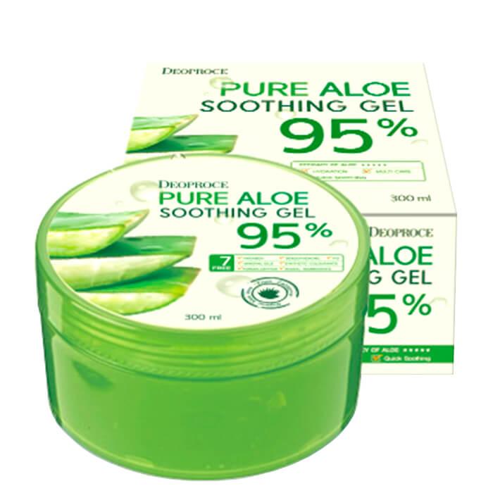 Купить Гель с алоэ Deoproce Pure Aloe 95% Soothing Gel, Многофункциональный гель алое 95% для лица и тела, Южная Корея