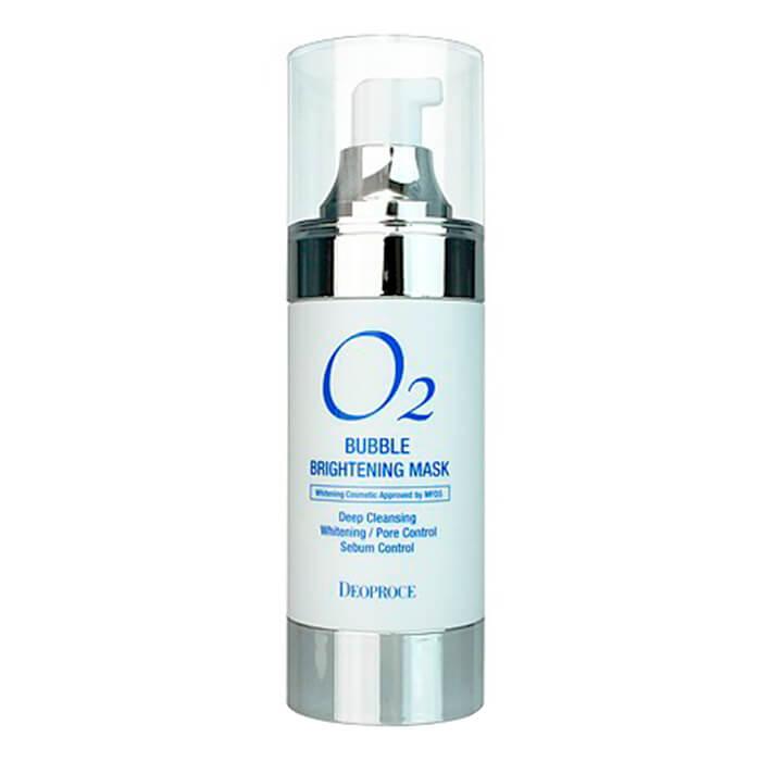 Купить Кислородная маска Deoproce O2 Bubble Brightening Mask, Осветляющая кислородная маска для глубокого очищения лица, Южная Корея