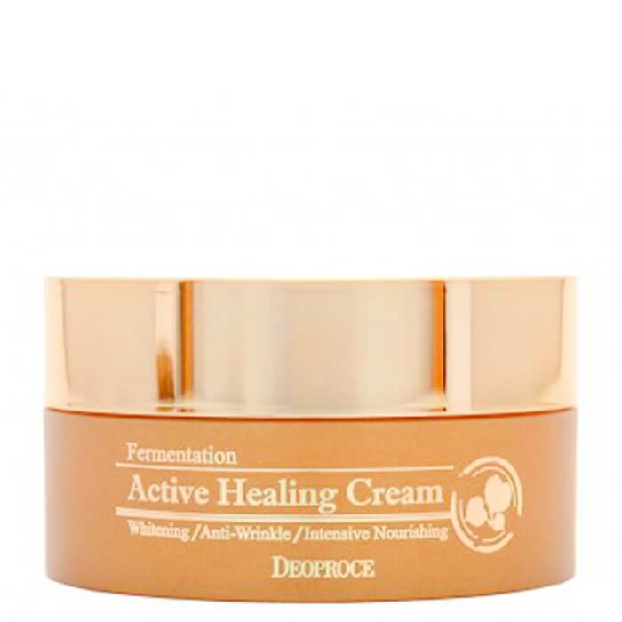 Купить Крем для лица Deoproce Fermentation Active Healing Cream, Питательный крем для лица с активными пузыриками кислорода, Южная Корея