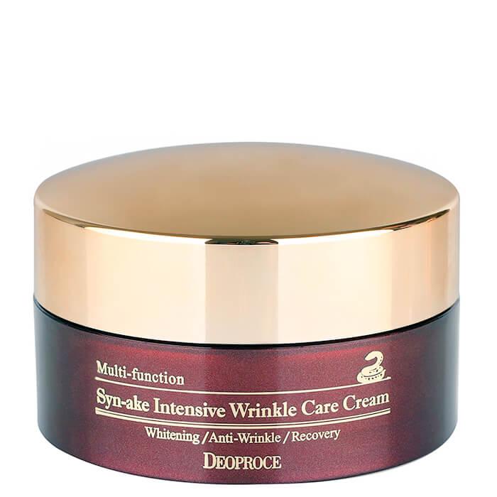Купить Крем для лица Deoproce Syn-Ake Intensive Wrinkle Care Cream, Крем со змеиным ядом для интенсивного разглаживания морщин на лице, Южная Корея