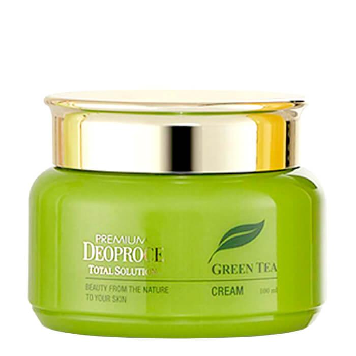 Купить Крем для лица Premium Deoproce Green Tea Total Solution Cream (100 мл), Увлажняющий крем для лица с экстрактом зелёного чая, Южная Корея