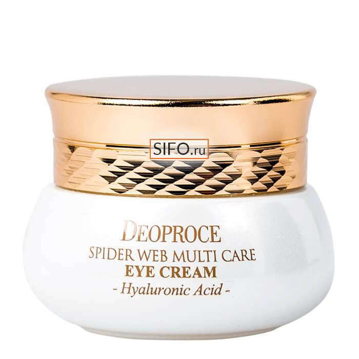 Купить Крем для век Deoproce Spider Web Multi-Care Eye Cream, Крем для кожи вокруг глаз с протеинами паутины пауков, Южная Корея