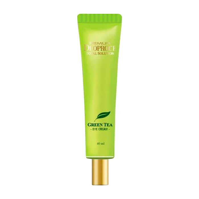 Купить Крем для век Premium Deoproce Green Tea Total Solution Eye Cream (40 мл), Увлажняющий крем для кожи вокруг глаз с экстрактом зелёного чая, Южная Корея