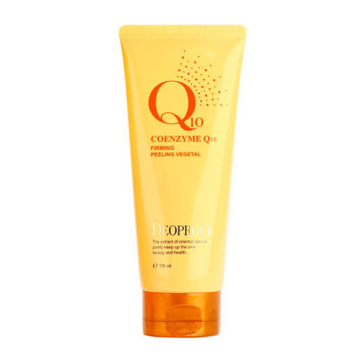 Купить Пилинг для лица Deoproce Coenzyme Q10 Firming Peeling Vegetal, Пилинг с коэнзимом Q10 для отшелушивания и укрепления кожи лица, Южная Корея