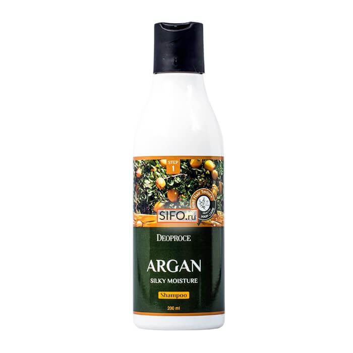 Шампунь для волос Deoproce Argan Silky Moisture Shampoo (200 мл)