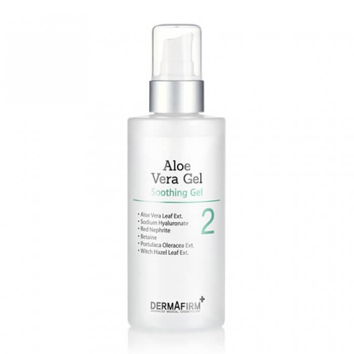 Купить Гель для лица Dermafirm Aloe Vera Gel, Многофункциональный гель алоэ вера с успокаивающим эффектом для кожи лица и тела, Южная Корея