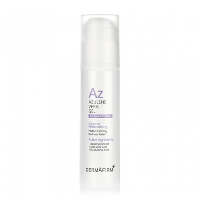 Купить Гель для лица Dermafirm Azulene Vera Gel, Противовоспалительный гель с азуленом для чувствительной и раздраженной кожи лица, Южная Корея