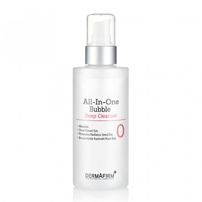 Купить Пенка для умывания Dermafirm All in One Bubble Deep Cleanser (200 мл), Пенка для очищения кожи лица от поверхностных загрязнений и макияжа, Южная Корея