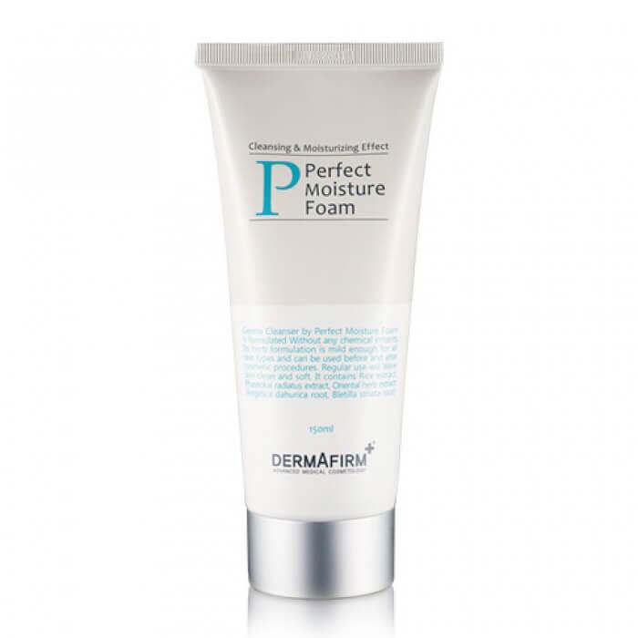 Купить Пенка для умывания Dermafirm Perfect Moisture Foam, Увлажняющая пенка для мягкого очищения кожи лица и снятия макияжа, Южная Корея