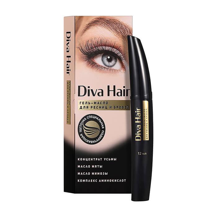 Масло-гель для ресниц и бровей Diva Hair Oil Gel Экспресс-средство для восстановления и роста ресниц и бровей фото