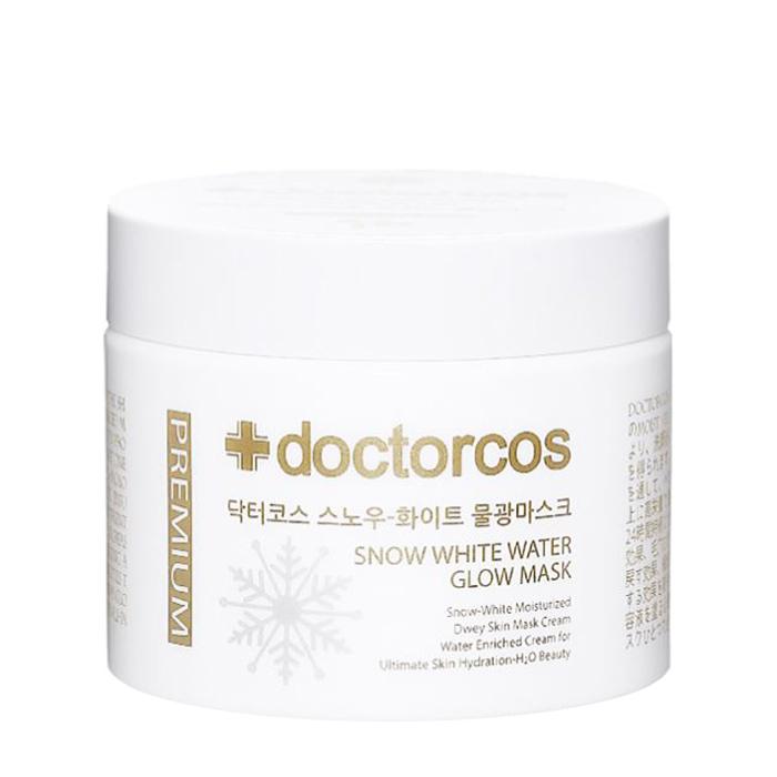 Купить Маска для лица Doctorcos Snow White Water Glow Mask, Многофункциональная осветляющая крем-маска для выравнивания тона и сияния кожи лица, Южная Корея