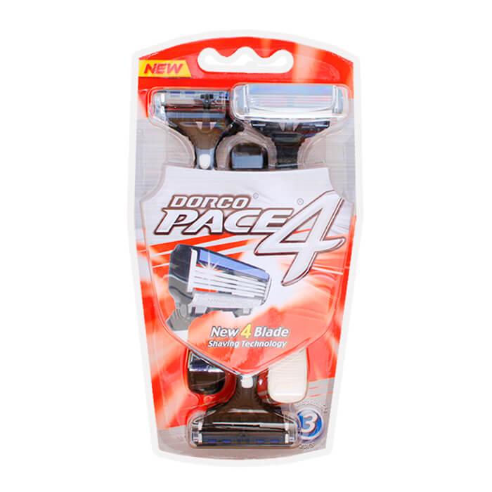 Купить со скидкой Бритва мужская Dorco Pace4 (3 станка)