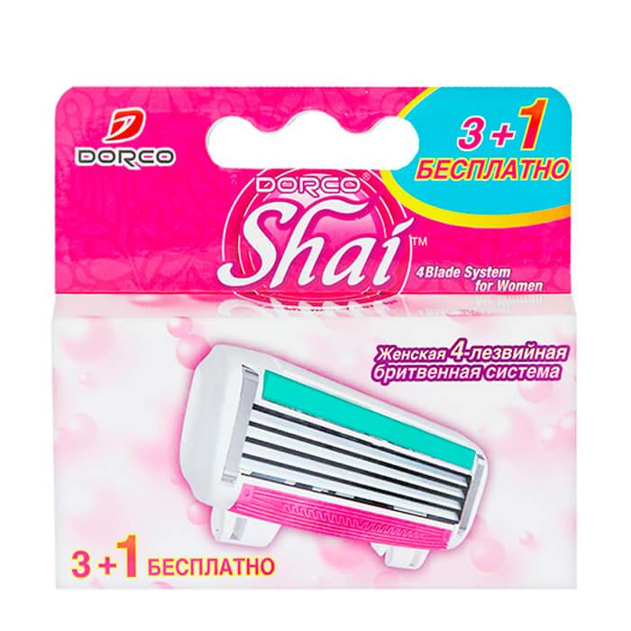Сменные кассеты Dorco Shai Reina Набор из 4 сменных четырёхлезвийных кассет для бритья фото