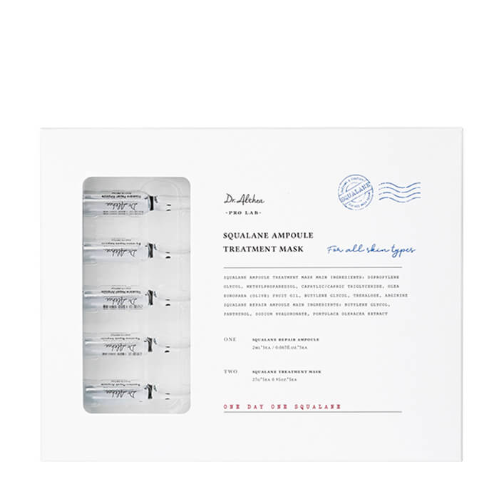 Купить Тканевая маска Dr.Althea Pro Lab Squalane Ampoule Treatment Mask (5 шт.), Двухэтапная тканевая маска для увлажнения и снятия раздражения кожи лица, Южная Корея