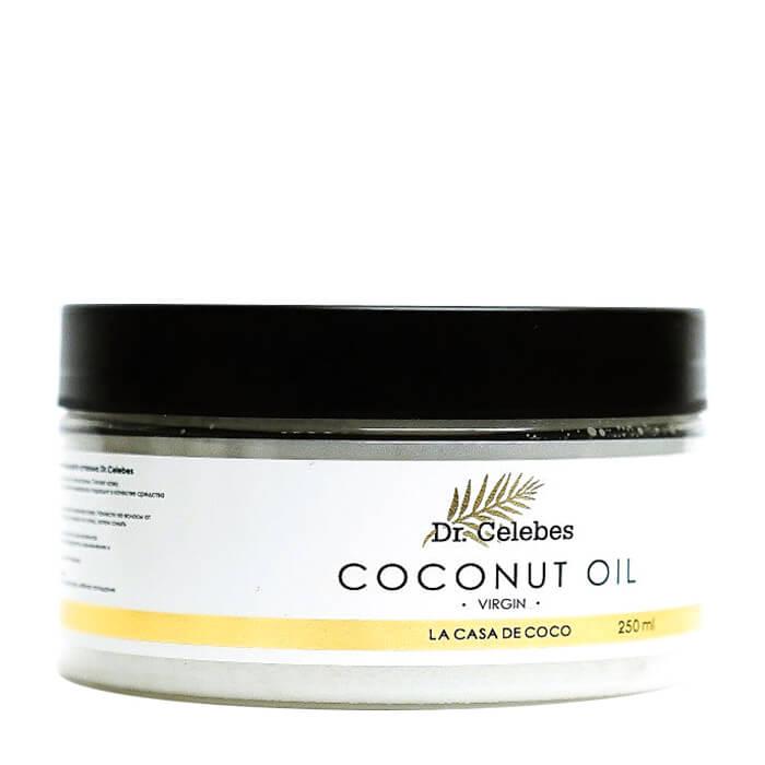 Купить Кокосовое масло Dr.Celebes Virgin Coconut Oil (250 мл), 100% натуральное органическое кокосовое масло холодного отжима, Россия