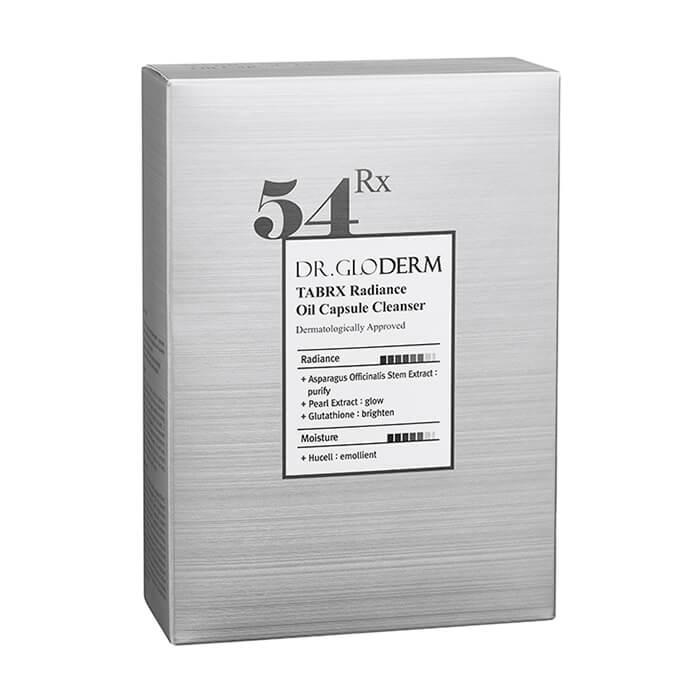 Гидрофильное масло Dr.Gloderm TabRX Radiance Oil Capsule Cleanser Очищающие масляные капсулы для кожи лица с молекулами положительных ионов