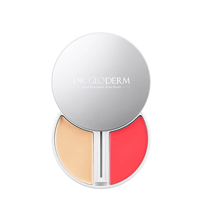 Купить Набор для макияжа Dr.Gloderm Skin Fixer Perfect Complexion #21 Light Beige, Палетка с тональным средством, корректором и бальзамом-румянами для макияжа лица, Южная Корея
