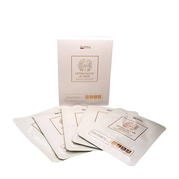Купить Набор тканевых масок Dr.Healux Lifting Face Up EO-Mask (10 шт.), Набор тканевых масок для кожи лица с омолаживающим и подтягивающим эффектом, Южная Корея