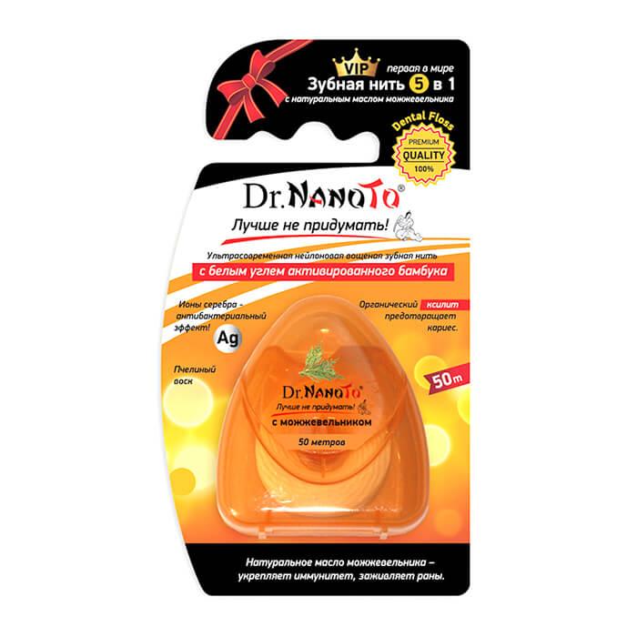 """Зубная нить Dr.NanoTo """"5 in One"""" Dental Floss - With Juniper, Нейлоновая зубная нить с натуральным маслом можжевельника, Китай  - Купить"""
