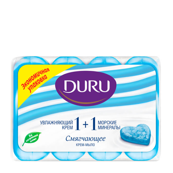 Купить Крем-мыло для рук Duru Gourmet 1+1 Морские минералы, Смягчающее крем-мыло для рук с морскими минералами, Турция