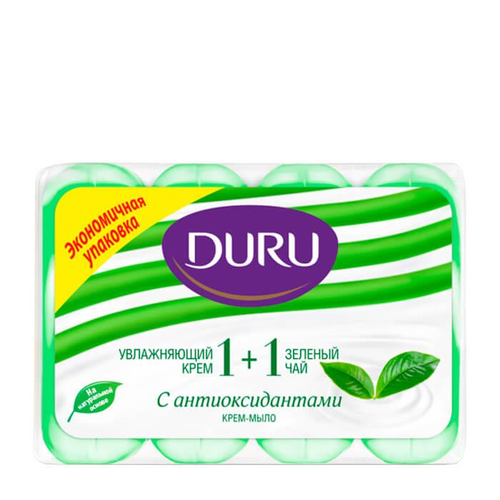 Купить Крем-мыло для рук Duru Gourmet 1+1 Зеленый чай, Антиоксидантное крем-мыло для рук с зелёным чаем, Турция