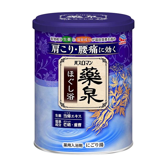 Купить Соль для ванны Earth Bath Roman Термальный источник (750 г), Восстанавливающая согревающая соль для ванны с минеральными компонентами и ароматом трав, Earth Corporation, Япония