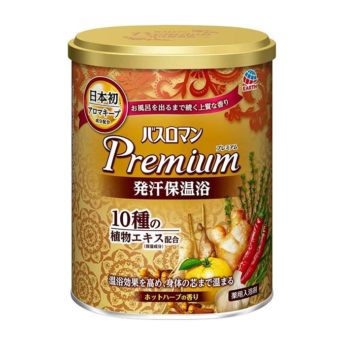 Купить Соль для ванны Earth Bath Roman Premium Herbal (750 г), Согревающая увлажняющая соль для ванны с растительными экстрактами и ароматом трав, Earth Corporation, Япония