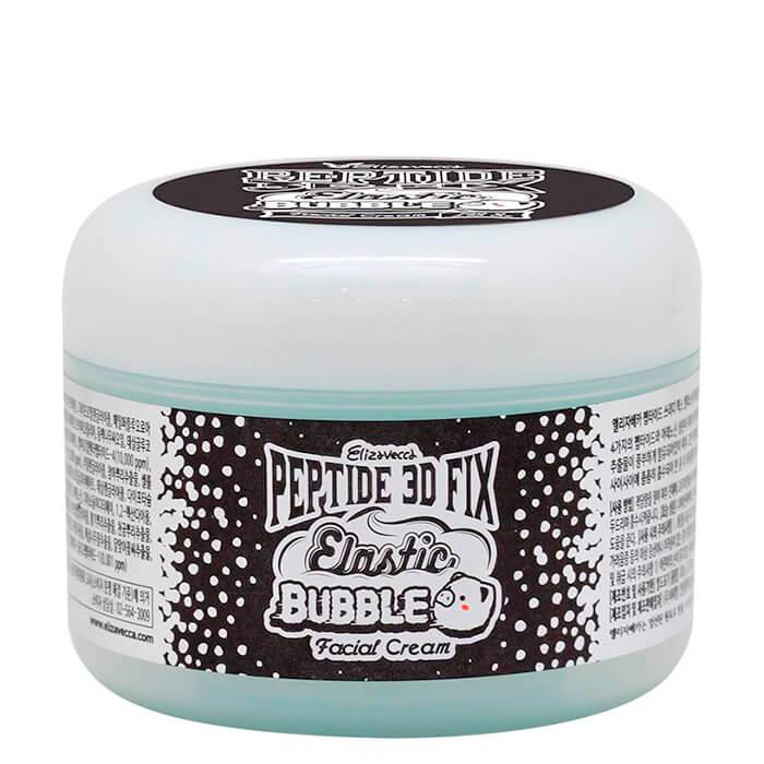 Купить Крем для лица Elizavecca Peptide 3D Fix Elastic Bubble Facial Cream, Кислородный крем для лица с комплексом из четырех пептидов, Южная Корея