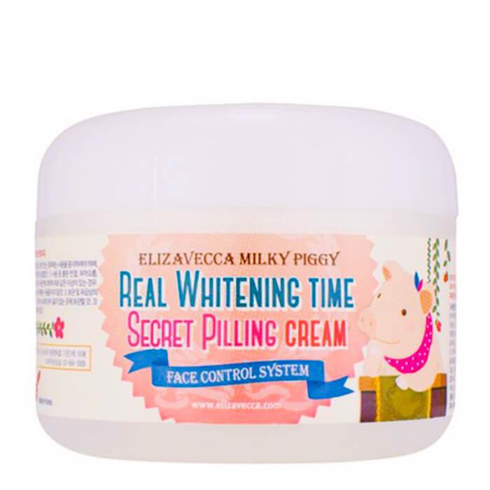 Купить Крем для лица Elizavecca Real Whitening Time Secret Pilling Cream, Осветляющий крем для лица с эффектом пилинга кожи, Южная Корея