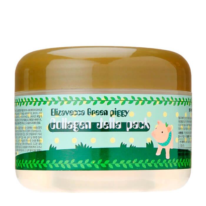 Маска для лица Elizavecca Green Piggy Collagen Jella Pack Высококонцентрированная желейная лифтинг маска для лица с коллагеном фото