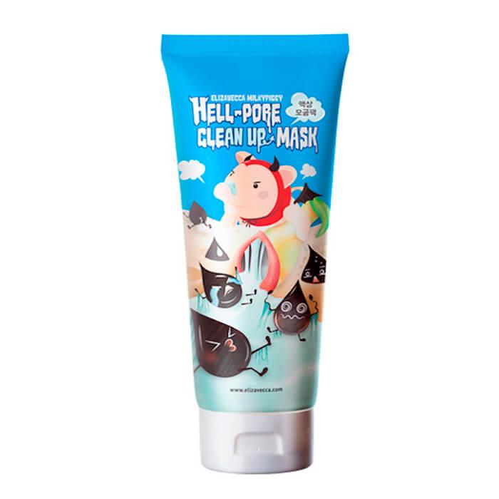 Купить Маска от чёрных точек Elizavecca Hell-Pore Clean Up Mask, Самая болезненная маска в мире для очищения пор на лице