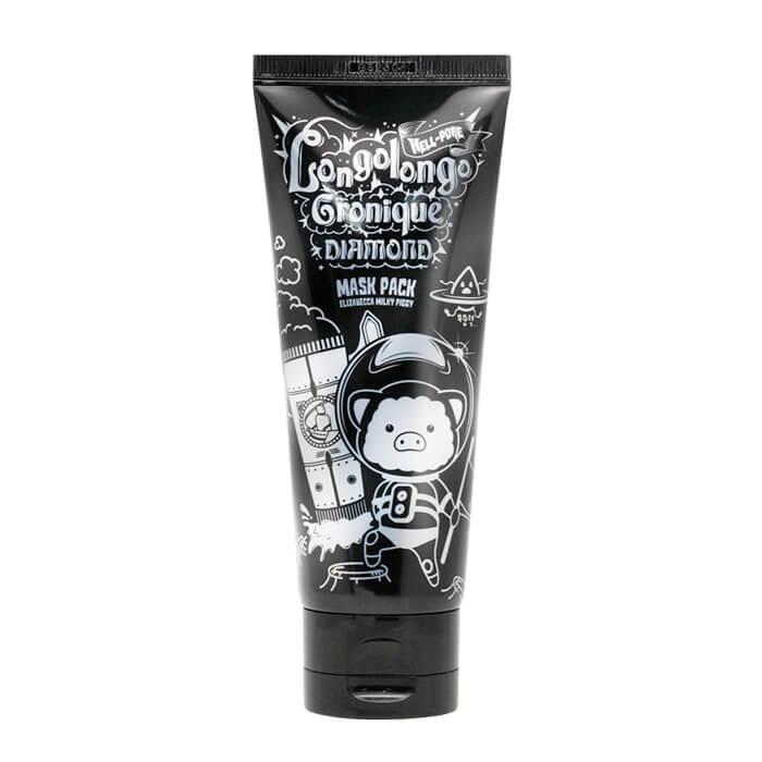 Купить Маска-плёнка Elizavecca Hell-Pore Longolongo Gronique Black Mask Pack, Чёрная плёночная маска для лица с древесным углём, Южная Корея