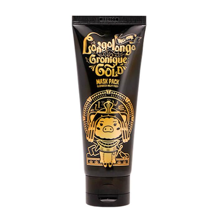 Купить Маска-плёнка Elizavecca Hell-Pore Longolongo Gronique Gold Mask Pack, Золотая плёночная маска для лица с коллоидным золотом, Южная Корея